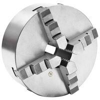 vidaXL 4-Backen-Drehfutter Selbstzentrierend 200 mm Stahl
