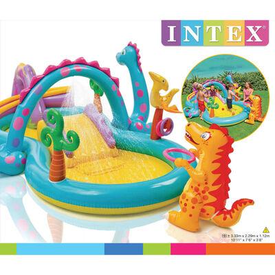Intex Dinoland Hüpfburg Kinderpool Aufblasbar 333x229x112 cm 57135NP