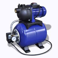 Hauswasserwerk Gartenpumpe Motorpumpe Pumpe Elektronik 1200w Blau