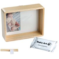 Baby Art Handabdruck Bilderrahmen Holz Natur