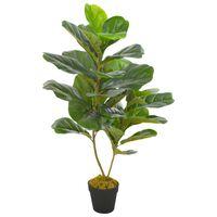 vidaXL Künstliche Pflanze Geigen-Feige mit Topf Grün 90 cm
