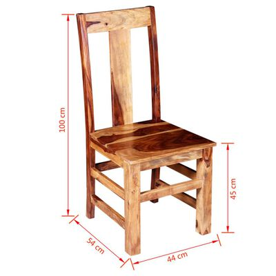 vidaXL Esszimmerstühle 4 Stk. Massivholz