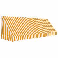 vidaXL Bistro-Markise Orange und Weiß 350 x 120 cm