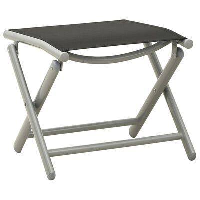 vidaXL 3-tlg. Garten-Lounge-Set Textilene und Aluminium Silbern