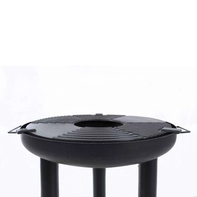 BBRILL BBQ Plancha Grill Schwarz Stahl