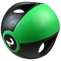Pure2Improve Medizinball mit Griffen 2 kg Grün P2I201980