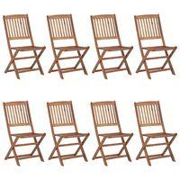 vidaXL Klappbare Gartenstühle 8 Stk. Massivholz Akazie