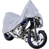 motorhoes XL 246 x 104 x 127 cm PE/katoen grijs