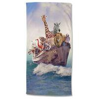 Good Morning Strandtuch NOAH 75x150 cm Mehrfarbig