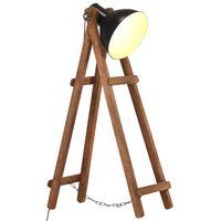 vidaXL Stehlampe Schwarz Mango Massivholz E27