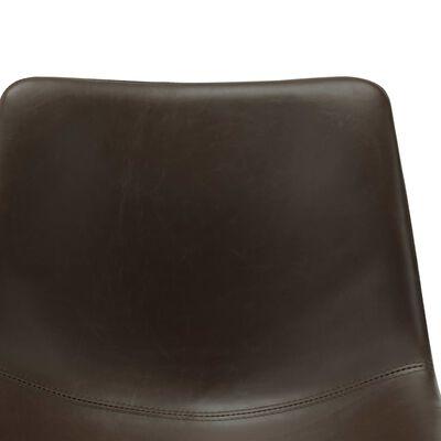 vidaXL Esszimmerstühle 6 Stk. Dunkelbraun Kunstleder , Darkbrown