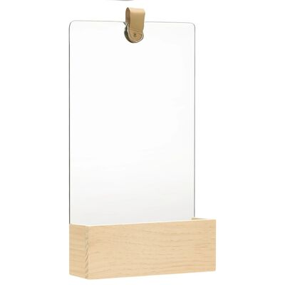 vidaXL Wandspiegel Kiefer Massivholz 23x39,5 cm