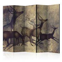 5-teiliges Paravent - Antelopes II  - 225x172 cm