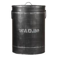 LABEL51 Wäschebehälter 40x40x58 cm L Antik-Schwarz