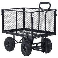 vidaXL Garden Hand Trolley Black 250 kg