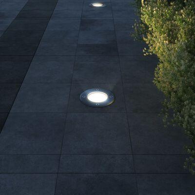 Bodenstrahler Bodenlampe Bodeneinbauleuchten rund 3er Set