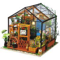 Robotime Miniatur Bausatz Cathy's Flower House mit LED-Beleuchtung