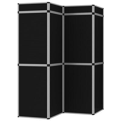 vidaXL 18-Panel Messewand Faltdisplay 362×200 cm Schwarz , Black