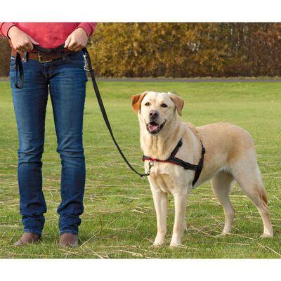 TRIXIE Hundegschirr Lead'n'Walk Soft Größe L-XL 65-105 cm Schwarz 13057