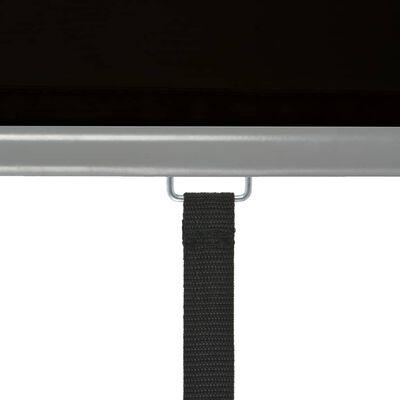 vidaXL Balkon-Seitenmarkise Multifunktional 180x200 cm Schwarz