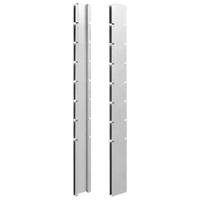 vidaXL Gabionenzaun Stahl Verzinkt 2,008x1,43 m Gesamtlänge 2 m Grau,