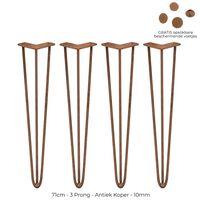 4x Hairpin Legs 71cm 3 Streben Tischbeine Möbelbeine Stuhlbeine 10mm