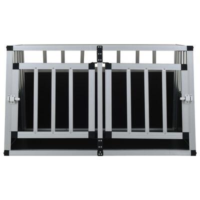 vidaXL Hundetransportbox mit Doppeltür 89 x 69 x 50 cm