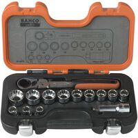 BAHCO Durchsteck-Steckschlüsselsatz 14-tlg. S140T