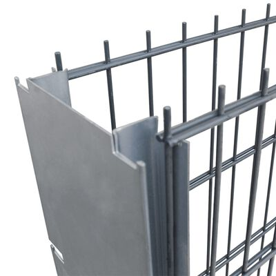 vidaXL Gabionenzaun Stahl Verzinkt 2,008x1,03 m Gesamtlänge 2 m Grau ,