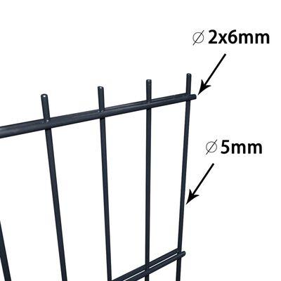 vidaXL Gabionenzaun Stahl Verzinkt 2,008x2,03 m Gesamtlänge 4 m Grau,