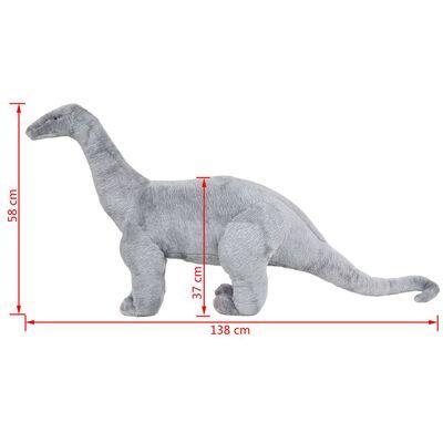 vidaXL Plüschtier Stehend Brachiosaurus Dinosaurier Grau XXL
