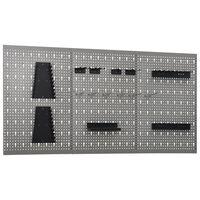 vidaXL Werkzeugwand 3 Stk. 40×58 cm Stahl