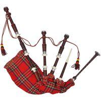 Schottischer Great Highland Dudelsack Red Royal Steward Tartan