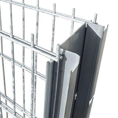 vidaXL Gabionenzaun Stahl Verzinkt 2,008x1,03 m Gesamtlänge 4 m,