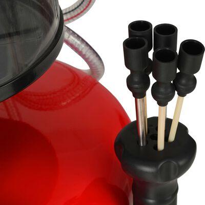 vidaXL Altölauffanggerät 70 L Stahl Rot