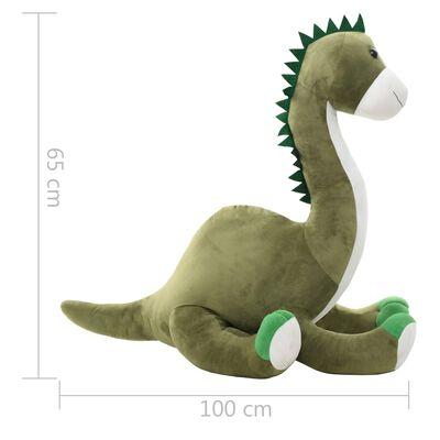 vidaXL Dinosaurier Brontosaurus Kuscheltier Plüsch Grün