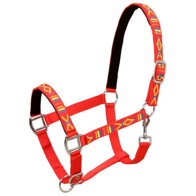 vidaXL Pferdehalfter 2 Stück Nylon Größe Vollblut Rot