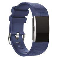 Fitbit Charge 2 Armband Silikon Dunkelblau (l)