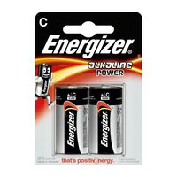 Energizer EN E300152100 Alkaline Batterie C 1,5 V Power 2 Blister