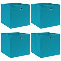 vidaXL Aufbewahrungsboxen 4 Stk. Babyblau 32×32×32 cm Stoff