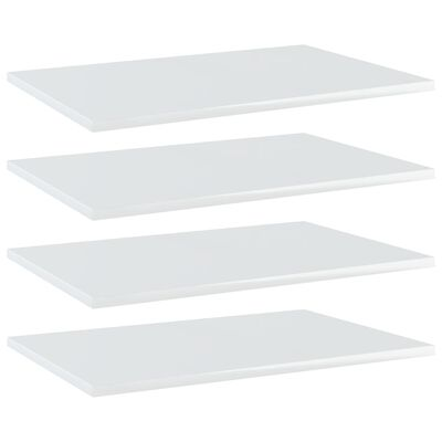vidaXL Bücherregal-Bretter 4 Stk. Hochglanz-Weiß 60x40x1,5 cm