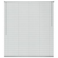 vidaXL Fensterjalousien Aluminium 120x160 cm Silber