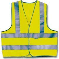 Warnweste drei Streifen Unisex Gelb Größe L