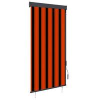 vidaXL Außenrollo 100 x 250 cm Orange und Braun