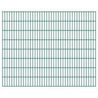 vidaXL 2D Gartenzaun-Elemente 2,008x1,63 m Gesamtlänge 46 m Grün