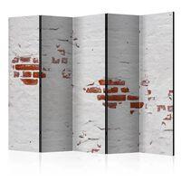 5-teiliges Paravent - Stony Secret II  - 225x172 cm