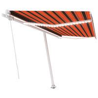 vidaXL Gelenkarmmarkise Einziehbar mit LED 450x300 cm Orange und Braun
