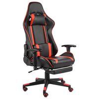 vidaXL Gaming-Stuhl mit Fußstütze Drehbar Rot PVC