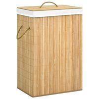vidaXL Bambus-Wäschekorb 72 L