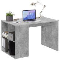 FMD Schreibtisch mit Regal 117×73×75 cm Betonoptik